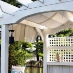 Drop Cloth Curtains for Eclectic Deck with Back Yard