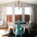 Drop Cloth Curtains for Eclectic Dining Room with My Houzz