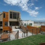 Dryvit for Contemporary Exterior with Handrail