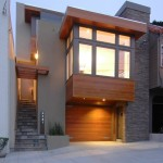 Dryvit for Contemporary Exterior with Rock Chimney