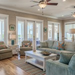 Drywall Alternatives for Beach Style Living Room with Glass Door