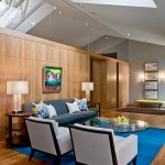 Drywall Alternatives for Contemporary Living Room with Paneling