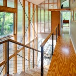Drywall Alternatives for Contemporary Staircase with Screened Porch Wood Porch Modern Porch