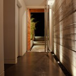 Drywall Textures for Modern Entry with Uplighting