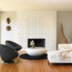 Drywall Textures for Modern Living Room with Modular Arts