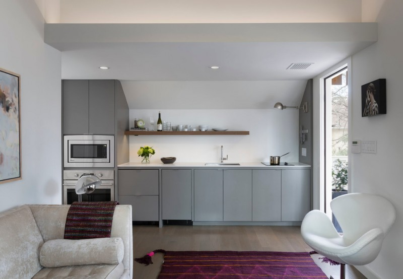 Duckworth Properties for Contemporary Kitchen with White Chair