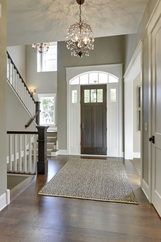 Duraseal Stain for Traditional Entry with Light Green Walls