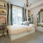 Duvet Definition for Shabby Chic Style Bedroom with Chandelier