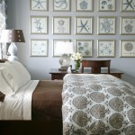 Duvet vs Comforter for Beach Style Bedroom with Floral Arrangement