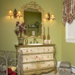 Dykes Lumber for Traditional Powder Room with Dresser