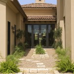 Eagle Roofing for Mediterranean Landscape with Stacked Stone