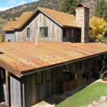 Eagle Roofing for Rustic Exterior with Stone Paving