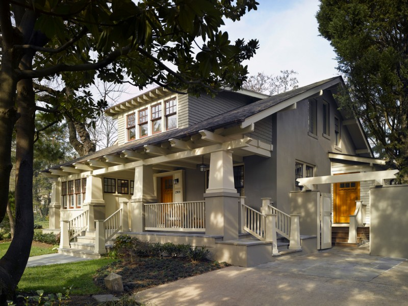Earth Sheltered Homes for Craftsman Exterior with Dormer