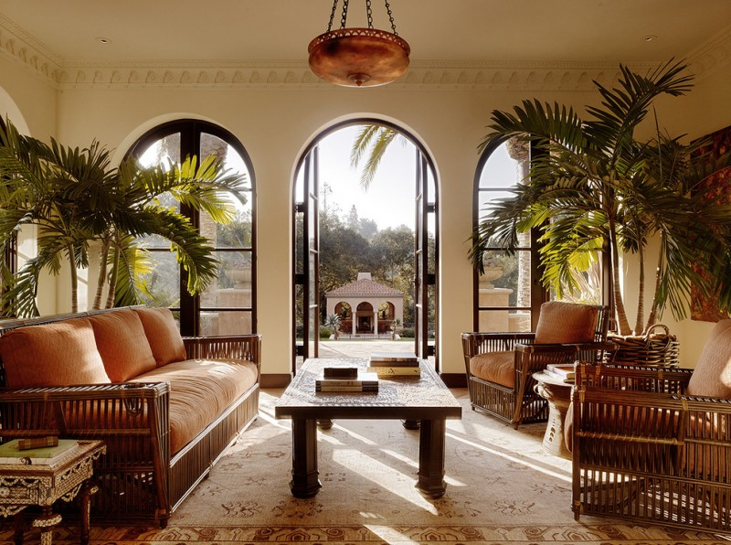Edco San Diego for Mediterranean Living Room with Arch Doors
