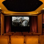Edina Movie Theater for Traditional Home Theater with Dark Wood Molding