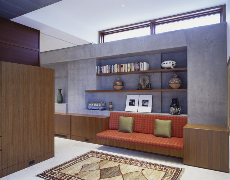 Ehrlich Architects for Modern Living Room with Ribbon Window