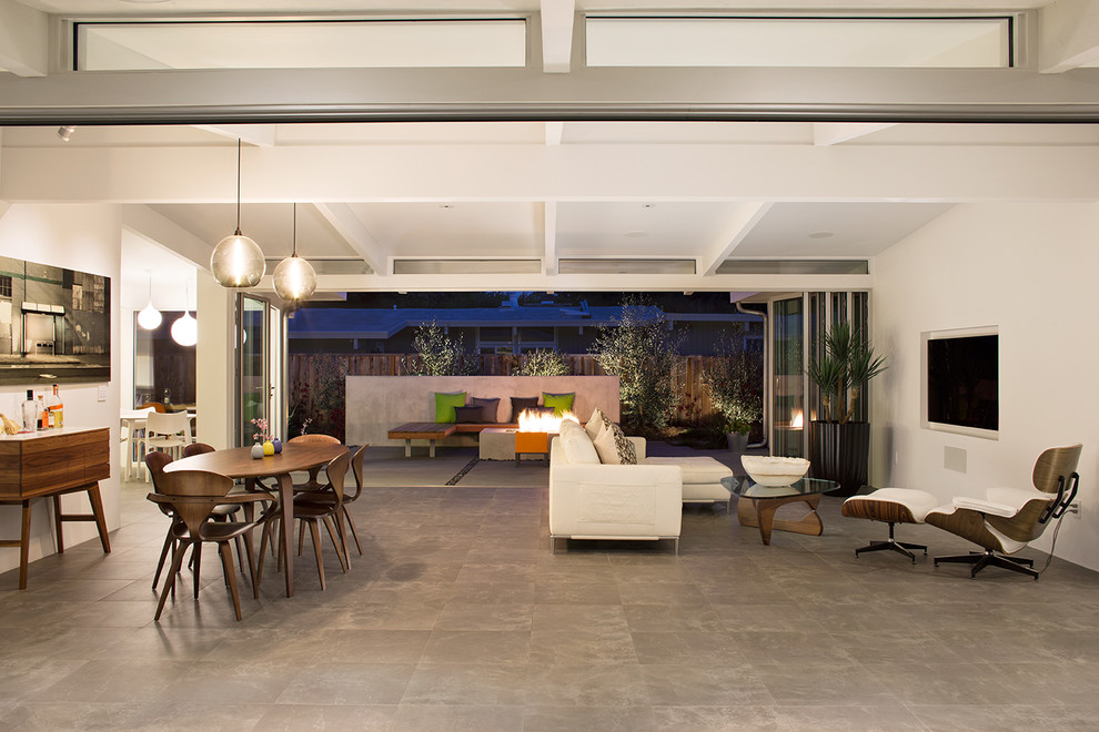 Eichler House for Midcentury Family Room with Modern