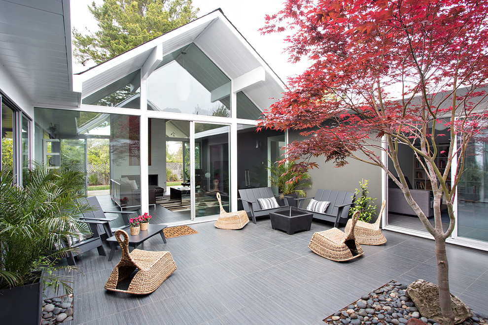 Eichler House for Midcentury Patio with Indoor Outdoor