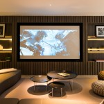 El Dorado Hills Theater for Contemporary Home Theater with Nesting Tables