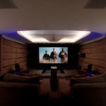 El Dorado Hills Theater for Contemporary Home Theater with Upholstered Walls