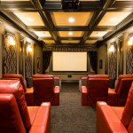 El Dorado Hills Theater for Traditional Home Theater with Ceiling Lighting