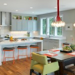 Elan Lighting for Contemporary Kitchen with Glass Cabinet Doors
