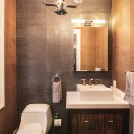 Elan Lighting for Contemporary Powder Room with Snakeskin