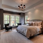 Elan Lighting for Traditional Bedroom with Purple Painted Wall