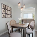 Elan Lighting for Traditional Dining Room with Herringbone Pattern