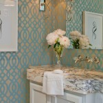 Elan Lighting for Transitional Powder Room with Transitional Sconce