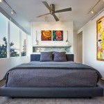 Elco Lighting for Contemporary Bedroom with Track Lighting