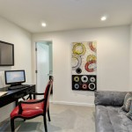 Elco Lighting for Modern Home Office with Gray Sofa