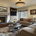 Elco Lighting for Traditional Family Room with Built in Storage