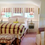 Ellsworth Ford for Traditional Bedroom with Striped Bedding