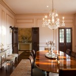 Ellsworth Ford for Traditional Dining Room with Crystal Chandelier