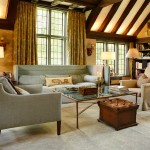 Ellsworth Ford for Traditional Family Room with Curtains