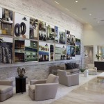 Environmental Stoneworks for Modern Living Room with Grey Sofa