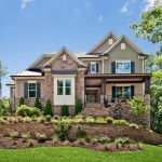 Environmental Stoneworks for Traditional Exterior with Green Shingle Siding