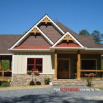 Eplans for Craftsman Exterior with Craftsman House Plan for a Sloping Lot