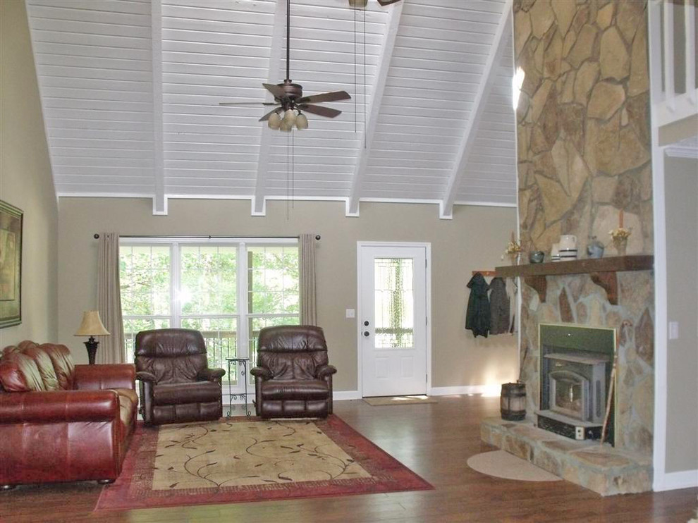 Era Sunrise Realty for Traditional Porch with Handscraped Antiqued Hickory Laminate Fl