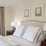 Euro Sham Size for Contemporary Bedroom with Table Lamps