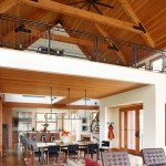 Everglades Farm Equipment for Farmhouse Living Room with Wood Ceiling