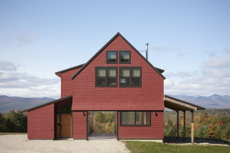 Everlast Roofing for Farmhouse Exterior with Porch