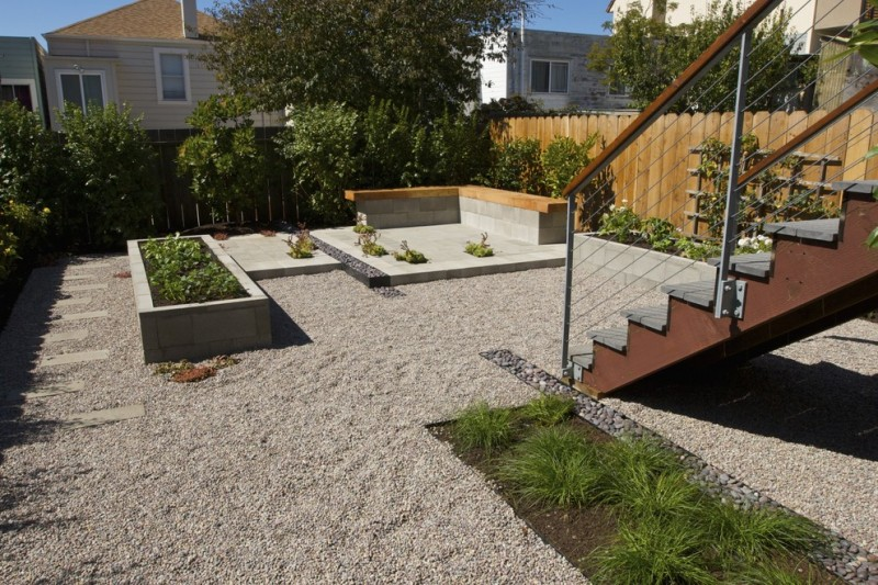 Ewing Irrigation for Contemporary Landscape with Cmu Block