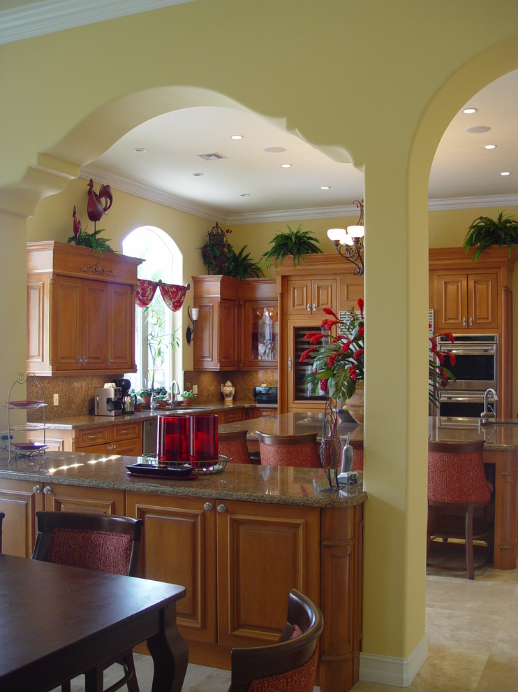 Eyebrow Arch for Mediterranean Kitchen with Spanish Revival
