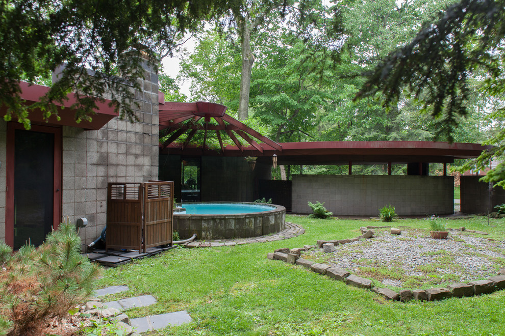 Fallingwater House for Midcentury Exterior with My Houzz