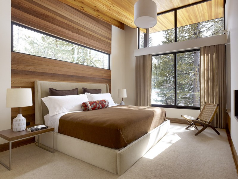 Feng Shui Bed Placement for Modern Bedroom with Ceiling Treatment