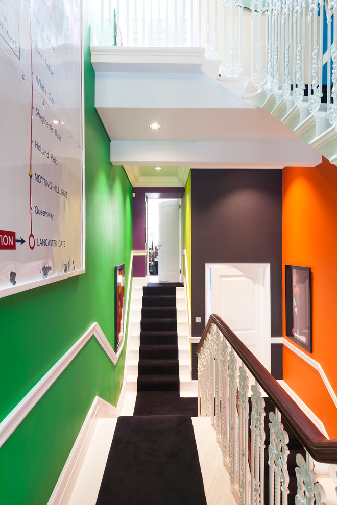 Fenway Park Map for Contemporary Staircase with Yellow