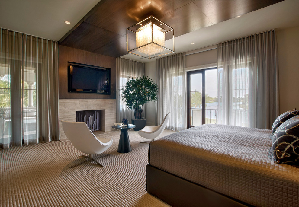 Fenwick Apartments for Contemporary Bedroom with Recessed Lighting
