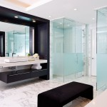 Ferguson Plumbing Supplies for Contemporary Bathroom with Floating Shelf